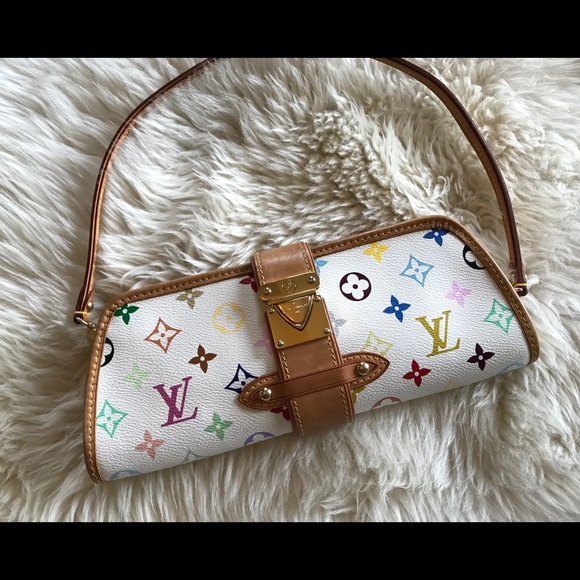 81983bacdb39 Louis Vuitton Handbags - Louis Vuitton MultiColor blanc white clutch